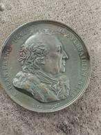 Médaille CUIVRE JEAN FRANCOIS DUCIS ACCORD BEAU TALENT ET BEAU CARACTERE 1816 40 Mm 36,4 G - Royal / Of Nobility