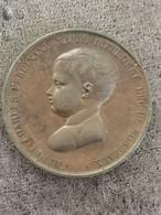 Médaille Bronze Baptème Du Duc De Bordeaux 1er Mai 1821 37 Mm 32,7 G - Royal / Of Nobility