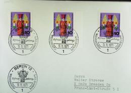 BERLIN: Brief Mit 10 Pf (MeF) Weihnachtsmarken 1971 -Kurbelmännchen- SoSt. BERLIN 12 Vom 11.11.1971 Knr: 412 (3) - Briefe U. Dokumente