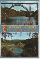 15 GARABIT- ALLEUZE.  BARRAGE DE GRANDVAL  (CANTAL).. BLASON..  MULTIVUES... ...  C3884 - Otros