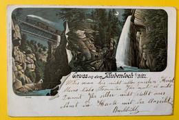 15401 - Gruss Aus Dem Taubenloch Litho Train Sur Le Pont - BE Berne