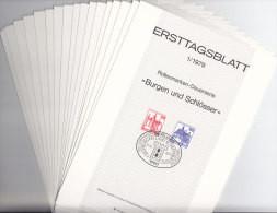BERLIN Jahrgang 1979 Auf ETB, 17 Ersttagsblätter Komplett - FDC: Vellen