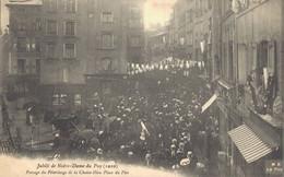 H2709 - Jubilé De Notre Dame Du Puy - D43 - Passage Du Pèlerinage De La Chaise Dieu - Place Du Plot - Le Puy En Velay