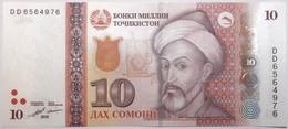 Tadjikistan - 10 Somoni - 2018 - PICK 24c - NEUF - Tajikistan