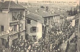 H2709 - Inauguration De La Statue De ST JOSEPH D'ESPALY - L'Arrivée De La Procession Dans Le Village D'Espaly - Andere Gemeenten