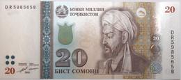 Tadjikistan - 20 Somoni - 2018 - PICK 25c - NEUF - Tajikistan