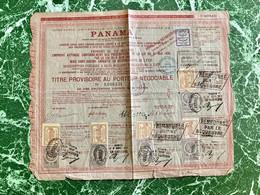 Cie Universelle Du Canal Interocéanique De PANAMA ----------- Titre  Provisoire - Navy