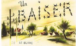 36   UN BAISER      DE   LE BLANC    CPM  TBE   1193 - Le Blanc