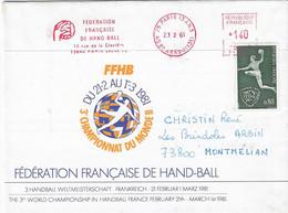 1981 Championnat Du Monde De Hand Ball En France: Courrier De La Fédération Française De H.B. - Pallamano
