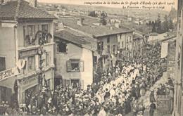 H2709 - Inauguration De La Statue De ST JOSEPH D'ESPALY - La Procession - Passage Du Clergé - Le Puy En Velay