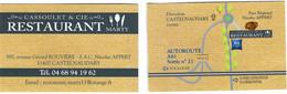 Carte De Visite - Cassoulet & Cie - Restaurant Mary - Castelnaudary (11) - Cartoncini Da Visita