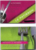 Carte De Visite - Le Patisson - Restaurant Traiteur - Saint-Savin [sur Gartempe] (86) - Cartoncini Da Visita
