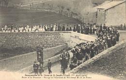 H2709 - Inauguration De La Statue De ST JOSEPH D'ESPALY - Retour De La Procession Passage De L'Harmonie Du Pensionnat N. - Le Puy En Velay