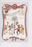 """1789-1989 Bicentenaire Révolution """"Vive La Nation"""" COQ Création Michel Villard Membre Sabretache (cp Vierge N°89/01) - Storia"""