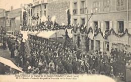 H2709 - Inauguration De La Statue De ST JOSEPH D'ESPALY - M Le Chanoine Fontanille Dirigeant La Procession Sur La  Grana - Le Puy En Velay