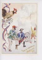 """1789-1989 Bicentenaire Révolution """"Prise Bastille"""" COQ Création Michel Villard Membre Sabretache (cp  N°89/03) - Storia"""