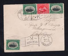 USA New-York Mischfrankatur Nach Nekcargemünd 1901 - Unclassified