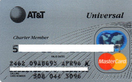 UNITED STATES - AT&T UNIVERSAL - BANK CREDIT CARD - CHARTER MEMBER - MASTERCARD (AUG 93 APR 96) - Other