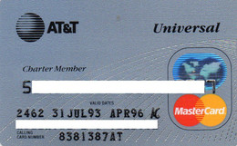 UNITED STATES - AT&T UNIVERSAL - BANK CREDIT CARD - CHARTER MEMBER - MASTERCARD (JUL 93 APR 96) - Other