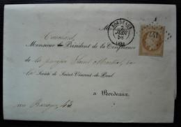Bordeaux 1858 Lettre  Pré-imprimée De La Société Saint-Vincent-de-Paul Conférence Notre-Dame Pour La Paroisse St Martial - 1849-1876: Klassieke Periode