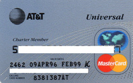 UNITED STATES - AT&T UNIVERSAL - BANK CREDIT CARD - CHARTER MEMBER - MASTERCARD (APR 96 FEB 99) - Other
