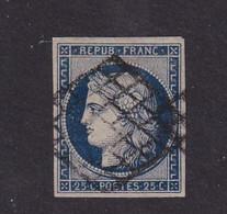 N°4 - 25c Bleu - 1849-1850 Cérès