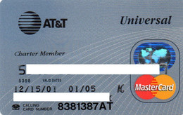 UNITED STATES - AT&T UNIVERSAL - BANK CREDIT CARD - CHARTER MEMBER - MASTERCARD (2001) - Other