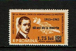 Romania 1963 Sc # C145  MNH **  Surcharge - Airplanes