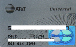 UNITED STATES - AT&T UNIVERSAL - BANK CREDIT CARD - MASTERCARD (1991) - OLD LOGO - Other