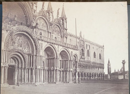 GRANDE PHOTOGRAPHIE ALBUMINE XIXe VENEZIA PIAZZA SAN MARCO VENISE ITALIA ALBUMEN ITALIE 1870 - Lugares