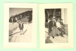 S1258 - Lot 2 Photographies Prises En 1960 - Alpes Maritimes - Nice Sous La Neige - Lucéram - Peira Cava - Lugares