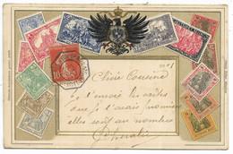 BUENOS-AYRES A BORDEAUX 1° L.J.N°5 Octogonal 1907 / 138 Carte Gaufrée Timbres Allemagne Pour Agen - Maritime Post