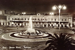 Cartolina - Bari - Piazza Roma - Notturno - 1955 Ca. - Bari