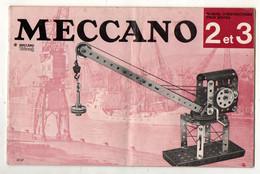 Manuel D'instructions Pour Boites 2 Et 3 Meccano - Format : 26.5x17 Cm Soit 25 Pages - Meccano