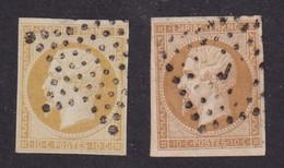 N°13 - 10c. Bistre - 2 Teintes - 1853-1860 Napoléon III