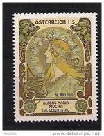 2010 Austria Östereich Mi. 2884 **MNH  150. Geburtstag Von Alfons Mucha - 2001-10 Nuovi & Linguelle