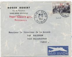 REUNION N° 302 A  / LETTRE Par AVION Pour PARIS . C à D -ST DENIS 9-1-1954 - Brieven En Documenten