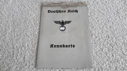 Kennkarte Deutsches Reich Eilenburg 1942  Dienststempel Stempel Ausweis - 1939-45