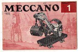 Manuel D'instructions Pour Boite 1 Meccano - Format : 26.5x17 Cm Soit 12pages - Meccano