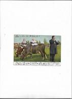Carte Postale Ancienne Bébés Avec Animaux (vaches) - Babies
