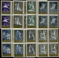 POLAND 1972 Moniuszko Centenary Blocks Of 4 MNH / **.  Michel 2174-181 - Unused Stamps