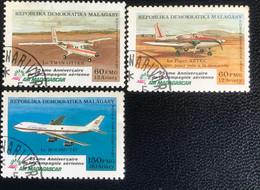 Madagascar - C1/41 - (°)used - 1987 - Michel 1074#1076 - Air-Madagascar - Airplanes