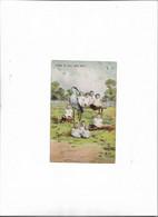 Carte Postale Ancienne Bébés Avec Animaux (cigogne) - Babies