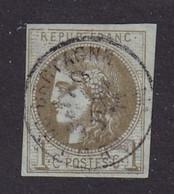 N°39 - 1c. Olive - Clair Important - 1870 Emission De Bordeaux