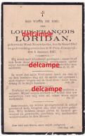 Oorlog GUERRE Louis Loridan Neuve Egilse Oorlogsvluchteling En Overleden Te Saint Prix / FRANCE 1917 Wijtschate Ieper - Devotion Images