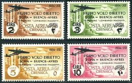 Cyrénaique Cyrenaica Cirenaica 1937 Flight Roma Buenos-Ayres Caproni Ca-101 (YT PA 20, St Gibbons 110, Scott C20) - Airplanes
