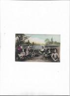 Carte Postale Ancienne Bébés Dans Des Choux - Babies