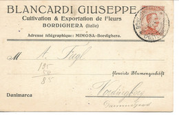 Italy - Bordighera - Postcard Sent To Denmark. 1923.  S-4868 - Other Cities