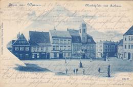 9912) GRUSS Aus WURZEN - MARKTPLATZ Mit Rathaus - TOP LITHO 18.12.1902 - Wurzen