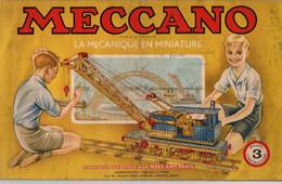 Manuel D'instructions 3 Meccano La Mécanique En Miniature - Format : 31x19cm Soit 37pages - Meccano